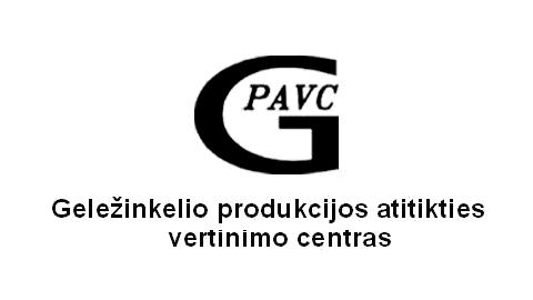 Geležinkelių transporto specialistų egzaminavimo centro logotipas